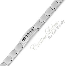 Men's Engraved Initials or Name Bracelet -  Stainless Steel