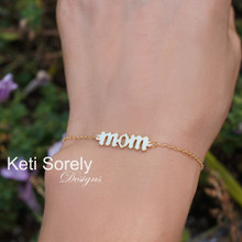 Personalized Gothic Name, Date or Initials Bracelet Or Anklet - Yellow Gold