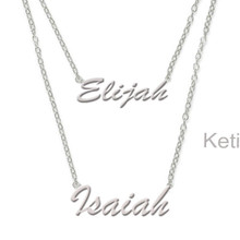 Layered Hand Cut Name Necklace - Script Names