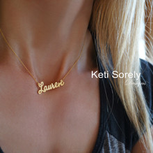 Personalized Your Name Necklace (Lauren Style) Choose Metal