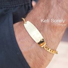 Men's Handwritten Signature Bracelet - Choose Your Metal