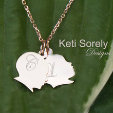 Personalized Family Silhouette Charms - Choose Your Metal