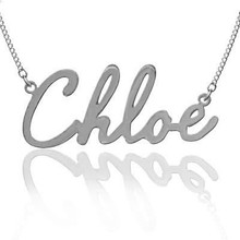 Personalized Hand Cut Name Necklace (Chloe Style) - Choose Your Metal