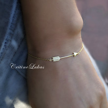 Sideways Arrow Bracelet  in Sterling Silver or Solid Gold