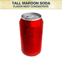 Flavor West Tall Maroon Soda Concentrate