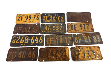 Antique New York State License Plates