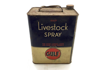 Antique Gulf Livestock Spray Can