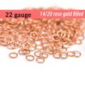 22g 14K Rose Gold Fill Jump Rings