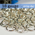18g Sterling Silver Jump Rings