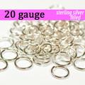 20g Silver Fill Jump Rings