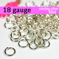18g Silver Fill Jump Rings