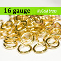 16g NuGold Brass Jump Rings