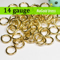 14g NuGold Brass Jump Rings