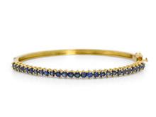 18 Karat Yellow Gold Sapphire Bangle bracelet