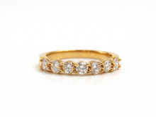 14 Karat Yellow Gold Seven Stone Prong Set Diamond Band