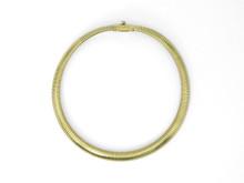 14 Karat Yellow Gold Gas Pipe Necklace
