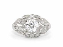 Platinum Edwardian 1.03 ct. Old European Cut Diamond Ring