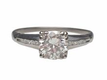 Platinum 1940's Diamond Engagement Ring