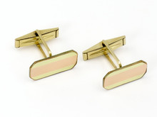 14 Karat Rose and Yellow Gold Retro Cufflinks