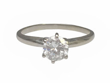 14 Karat White Gold 6 Prong Solitaire Engagement Ring