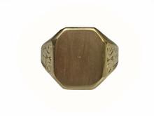 10 Karat Yellow Gold Signet Ring