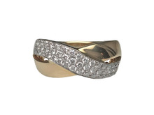 14 Karat Yellow Gold and Diamond Ring