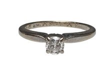 14 Karat White Gold Diamond Solitaire Ring
