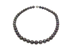 Aubergine Natural Colored Tahitian Pearl Strand