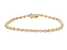 14 Karat Rose Gold BezelSet Diamond Bracelet