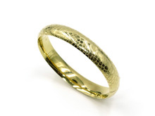 14 Karat Yellow Gold Animal Print Bangle
