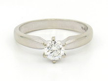 14 Karat White Gold 0.51 Carat Diamond Solitaire