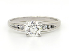 14 Karat White Gold Old European Cut Diamond Engagement Ring