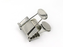 Stainless Steel Money Clip with Criss Cross Design