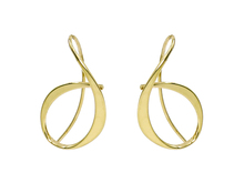 14 Karat Yellow Gold Ed Levin Allegro Earrings