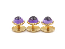 Purple Stone Shirt Studs