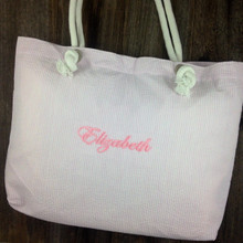 Pink Seersucker Ultimate Tote - Girl's