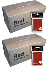 Bulk Ultra Pro Red Sleeves 1200 ct
