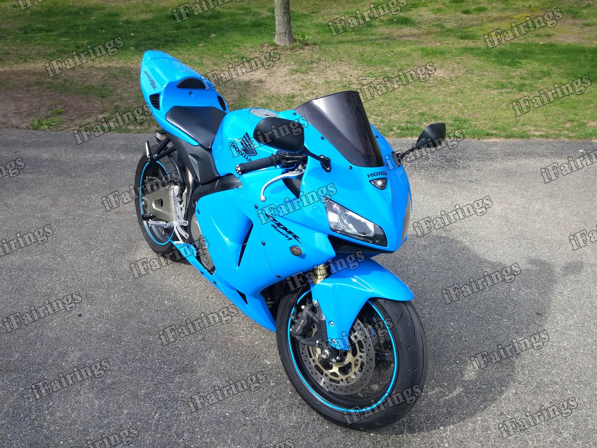 2005 2006 Honda CBR600RR Blue Fairing Kit - iFairings
