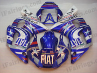 Yamaha YZF-R6 1998 to 2002 Fiat limited edition fairing kits, this Yamaha YZF-R6 1998 to 2002 plastics was applied in Fiat limited editiongraphics, this 1998 to 2002 YZF-R6 fairing set comes with the both color and decals shown as the photo.If you want to do custom fairings for YZF-R6 1998 to 2002,our talented airbrusher will custom it for you.
