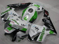 Honda CBR600RR 2005 2006 HANNspree fairing kits, this Honda CBR600RR 2005 2006 plastics was applied in HANNspreegraphics, this 2005 2006 CBR600RR fairing set comes with the both color and decals shown as the photo.If you want to do custom fairings for CBR600RR 2005 2006,our talented airbrusher will custom it for you