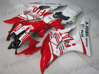 Yamaha YZF-R6 2006 2007 Fiat fairing kits, this Yamaha YZF-R6 2006 2007 plastics was applied in Fiatgraphics, this 2006 2007 YZF-R6 fairing set comes with the both color and decals shown as the photo.If you want to do custom fairings for YZF-R6 2006 2007,our talented airbrusher will custom it for you.