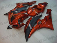 Yamaha YZF-R6 2006 2007 brown and black fairing kits, this Yamaha YZF-R6 2006 2007 plastics was applied in brown and blackgraphics, this 2006 2007 YZF-R6 fairing set comes with the both color and decals shown as the photo.If you want to do custom fairings for YZF-R6 2006 2007,our talented airbrusher will custom it for you.