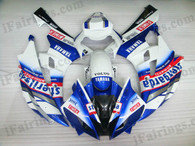 Yamaha YZF-R6 2006 2007 sterilgarda fairing kits, this Yamaha YZF-R6 2006 2007 plastics was applied in sterilgardagraphics, this 2006 2007 YZF-R6 fairing set comes with the both color and decals shown as the photo.If you want to do custom fairings for YZF-R6 2006 2007,our talented airbrusher will custom it for you.
