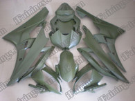 Yamaha YZF-R6 2006 2007 matt green fairing kits, this Yamaha YZF-R6 2006 2007 plastics was applied in matt greengraphics, this 2006 2007 YZF-R6 fairing set comes with the both color and decals shown as the photo.If you want to do custom fairings for YZF-R6 2006 2007,our talented airbrusher will custom it for you.