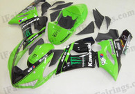 Kawasaki ZX6R 636 2005 2006 Monster replica fairing kits, this Kawasaki ZX6R 636 2005 2006 plastics was applied in Monster replicagraphics, this 2005 2006 ZX6R 636 fairing set comes with the both color and decals shown as the photo.If you want to do custom fairings for ZX6R 636 2005 2006,our talented airbrusher will custom it for you.