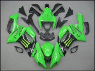 Kawasaki ZX6R 636 2007 2008 monster fairing kits, this Kawasaki ZX6R 636 2007 2008 plastics was applied in monstergraphics, this 2007 2008 ZX6R 636 fairing set comes with the both color and decals shown as the photo.If you want to do custom fairings for ZX6R 636 2007 2008,our talented airbrusher will custom it for you.
