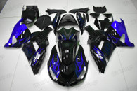 Kawasaki Ninja ZX14 ZX1400 blue ghost flame fairings