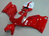 Ducati 748/916/996/998 red and white fairing kits, this Ducati 748/916/996/998 replacement fairing was applied in red and white graphics, this Ducati 748/916/996/998 fairing set comes with the both color and decals shown as the photo. If you want to do custom fairings for Ducati 748/916/996/998,our talented airbrusher will custom it for you.