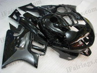 Honda CBR600 F3 1995 1996 black/silver fairing kits, 1995 1996 Honda CBR600 F3 black/silver plastic.This Honda CBR600 F3 1995 1996 fairing kits was applied in black/silver graphics, this 1995 1996 CBR600 fairing set comes with the both color and decals shown as the photo.If you want to do custom fairings for CBR600 F3 1995 1996,our talented airbrusher will custom it for you.