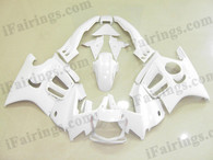 Honda CBR600 F3 1995 1996 white fairing kits, 1995 1996 Honda CBR600 F3 white plastic.This Honda CBR600 F3 1995 1996 fairing kits was applied in white graphics, this 1995 1996 CBR600 fairing set comes with the both color and decals shown as the photo.If you want to do custom fairings for CBR600 F3 1995 1996,our talented airbrusher will custom it for you.
